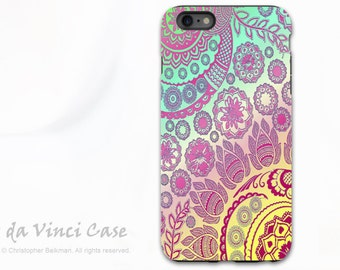 Apple iPhone 6s Plus Case - Paisely Case For iPhone 6 Plus from Blackish - Cotton Candy Mehndi - Dual Layer Protective Case For iPhone Plus