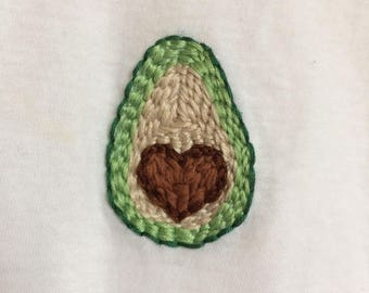 I Heart Avocado! hand-embroidered shirt   Fruit, Vegetable, Vegetarian, Guacamole