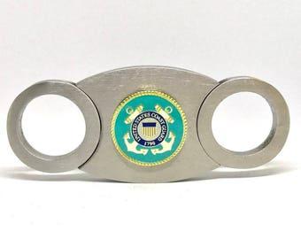 """Coast Guard Cigar Cutter – 1"""" Color"""