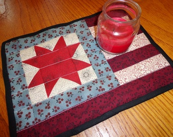 Primitive Flag Mini Quilt