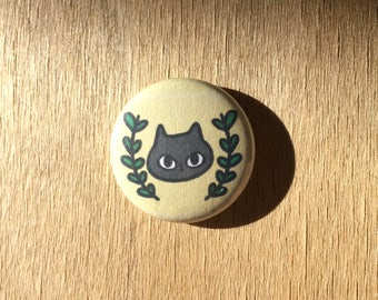 Grey Cat Pin / Russian Blue Cat / Cat Button / Cats / Cat Pins / Gift for Cat Lady / Cat Lover Gift / Can Pin / Cat Gifts / Pinback Buttons