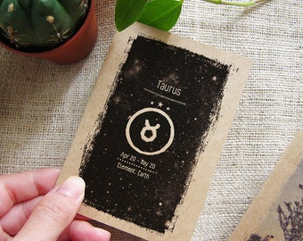 Taurus Small Notebook - Mini Astrological Travel Pocket Size Journal - Cute May June Birthday Gift