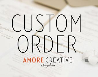 Deposit Listing - Custom Wedding Invitations - Alyssa F.