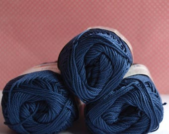 Catania yarn - Schachenmayr / 164 Jeans / Worldwide Shipping / Crochet and Knitting Yarn / 1 ball/50g