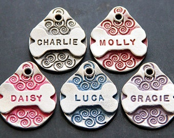 Personalized Pet Tag Pet ID Tag Dog ID Tag Custom Pet Tag Dog Name Tag Bone Dog Tags for Dogs