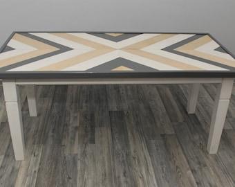 Handmade Multicoloured coffe table