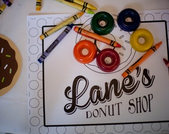 Donut Coloring Sheet, Donut Party, Donut Birthday Party, Donut Printables, Donut Shop Coloring Sheet, Lauren Haddox Designs