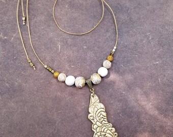 KASAVU  Polymer Clay Fashion Jewelry, Ethnic necklace set, Handmade Jewelry, Festive Jewelry, Gift