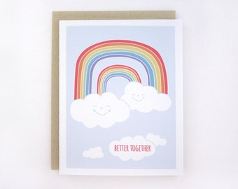 Double Rainbow - Better Together Card