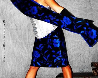Clearance....Blue Diamond Pencil Skirt
