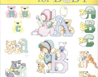 Alphabets For Baby ~  Cross Stitch Book  ~  NEW CONDITION