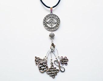 Celtic Medallion Stitch Marker Necklace