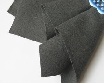 Charcoal Grey, Wool Felt Square, Choose Size, 100% Wool, DIY Craft Felt, Sewing Supply, Quilt Applique, Waldorf Craft, Washable Felt
