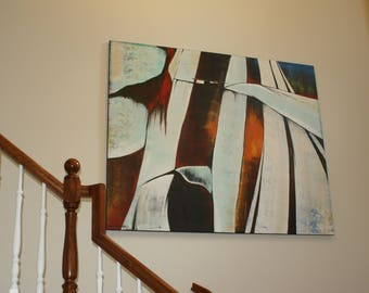Moment. Original acrylic abstract painting on stretched canvas.