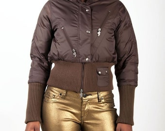 CLEARANCE!!! Sweet Vibes Down Filled Bomber Jacket