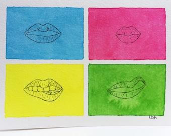 "Original Watercolor - ""Moods"" - Blank Card"