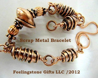 Tutorial Scrap Metal Links Bracelet, Necklace, PDF Instant Download, Make Your Own Metal Jewelry