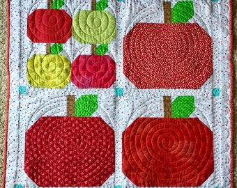An Apple A Day Quilted Wall-Hanging/ Table Topper