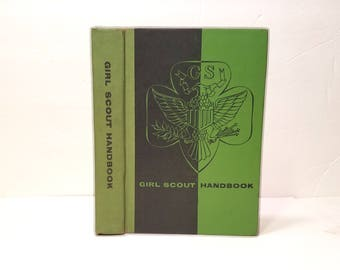Hollow Book Safe Girl Scout Handbook Cloth Bound vintage Secret Compartment Security hiding place