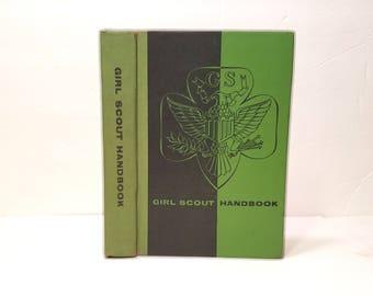 Hollow Book Safe Girl Scout Handbook Cloth Bound vintage Secret Compartment Security hiding place