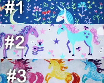 """Floral Unicorn Extra Large Receiving Blanket - 36"""" x 42"""""""