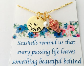 Seashell Necklace, Seashell Jewelry, Sympathy Gift, Remembrance Gift, Seashells Remind us that every passing life