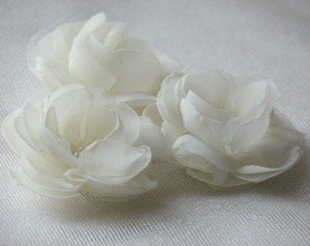 Wedding hair flower Bridal hair flower Ivory hair flowers Mini hair flower Wedding hair pin Ivory hair piece Bridal ivory flower Ivory clip