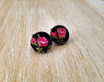 RosyFloral Earrings -  Vintage Pinup Retro Mod