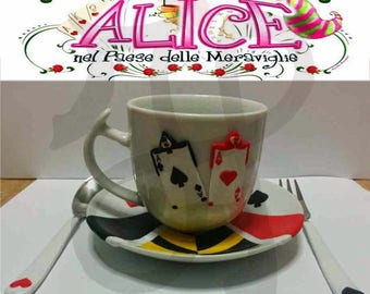 Breakfast with the Queen of hearts from Alice in Wonderland