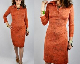 SALE Diane Von Furstenberg SILK Dress - DVF Silk Dress - Body Con Dress - Abstract Print - 3/4 Sleeves - High End Designer Dress size 4 - S