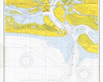 Morehead City Harbor Map 1972