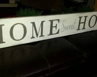 Home Sweet Home Extra Large Wood Sign Wall Hanging Distressed Wood Rustic Primitive Decor Fixer Upper Housewarming Gift Farmhouse Decor