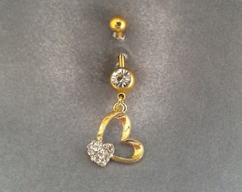 belly button ring Golden Heart
