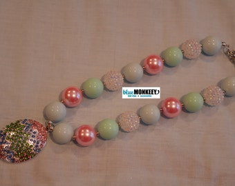 Easter Egg Chunky Bead Necklace - RTS