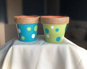 Whimsical Petite Terra-cotta Pots