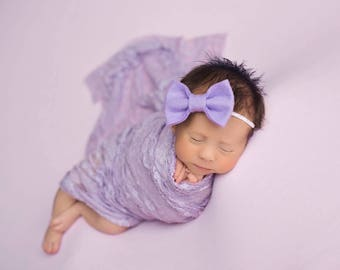 Baby Girl Headband, Baby Headbands, Baby Bows, Purple Bow, Nylon Headband, Baby Hair Bows, Felt Bow Headband, Baby Bow Headband, Headbands