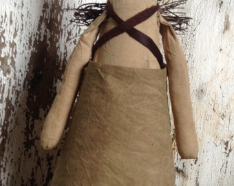 Primitive Angel doll OR tree topper SIMPLE