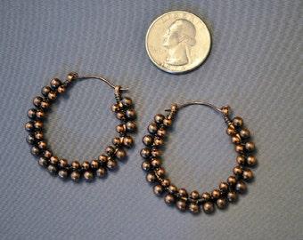 Antiqued Copper Earrings