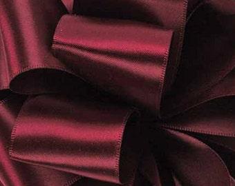 "Satin Ribbon 2 1/4"" Double Face Raisin Purple Burgundy - TEN YARD ROLL - Offray Satin No. 16 Raisin #793 Double Sided Satin, Wedding Ribbon"