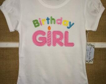 Birthday Girl Appliqued T-Shirt