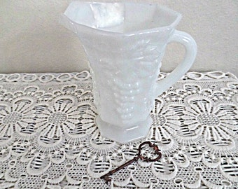 Vintage Milk Glass Pitcher