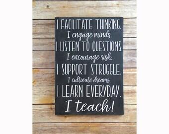 Classroom Decor Teacher Appreciation Gift, Teacher Gift, Classroom Sign, Classroom Decoration, Teacher Gift Ideas, Teacher End of Year Gift