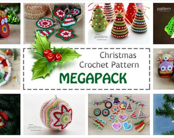 Christmas Crochet Pattern MEGAPACK (10 Selected Crochet Patterns Included)