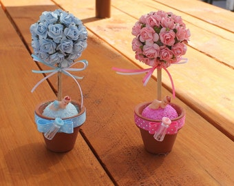 favors/bridal showers/ baby shower/topiary/its a girl/its a boy/mom to be/dad to be