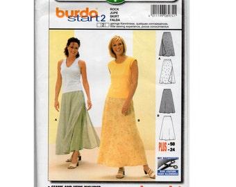 Layered Flared Skirt Pattern - Size 10 12 14 16 18 20 22 24 - Vintage Burda 8974