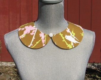 Detachable Peter Pan Collar - Removable collar- One of a kind - Joel Dewberry