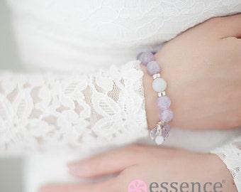 Bracelet of Solace - Essence Bracelet, Gemstone, Jewelry, Silver, Health and Wellness, Gift Idea, Healing Bead Bracelet