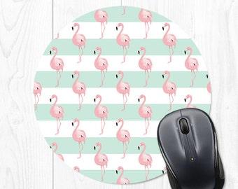 Mint Mouse Pad Mousepad Flamingo Mouse Pad School Supplies Mouse Mat Office Supplies Dorm Decor Dorm Room Decor Office Desk Accessories