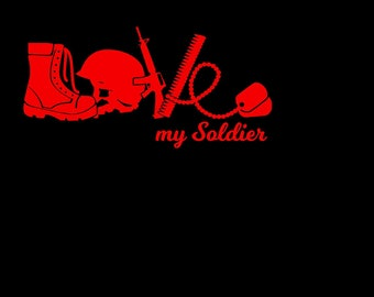 Iron On Decal, DIY Decal, Love Army, Army  Decal, Army, Military, Soldier Decal, Military Decal shirt