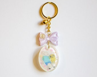 Finn and Jake Resin Charm Keychains